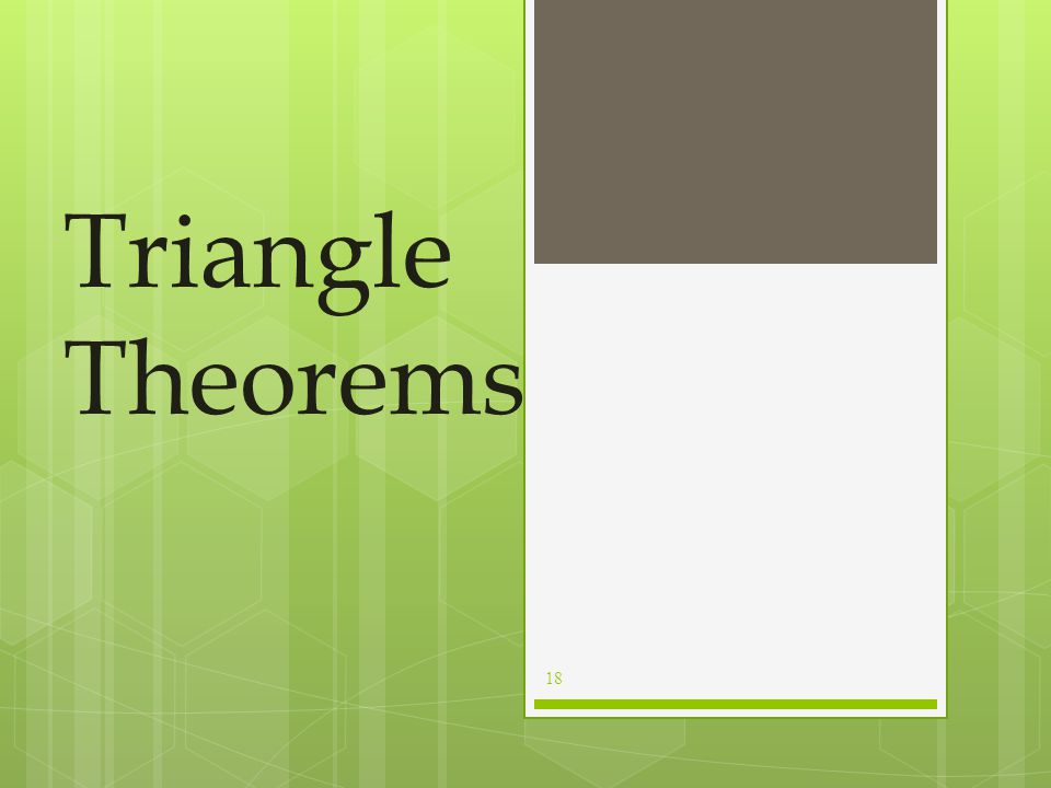 Interior and Exterior Angles For example, ∆ ABC has exterior angle: ÐAÐACD and remote interior angles  A and  B The remote interior angles of a tria