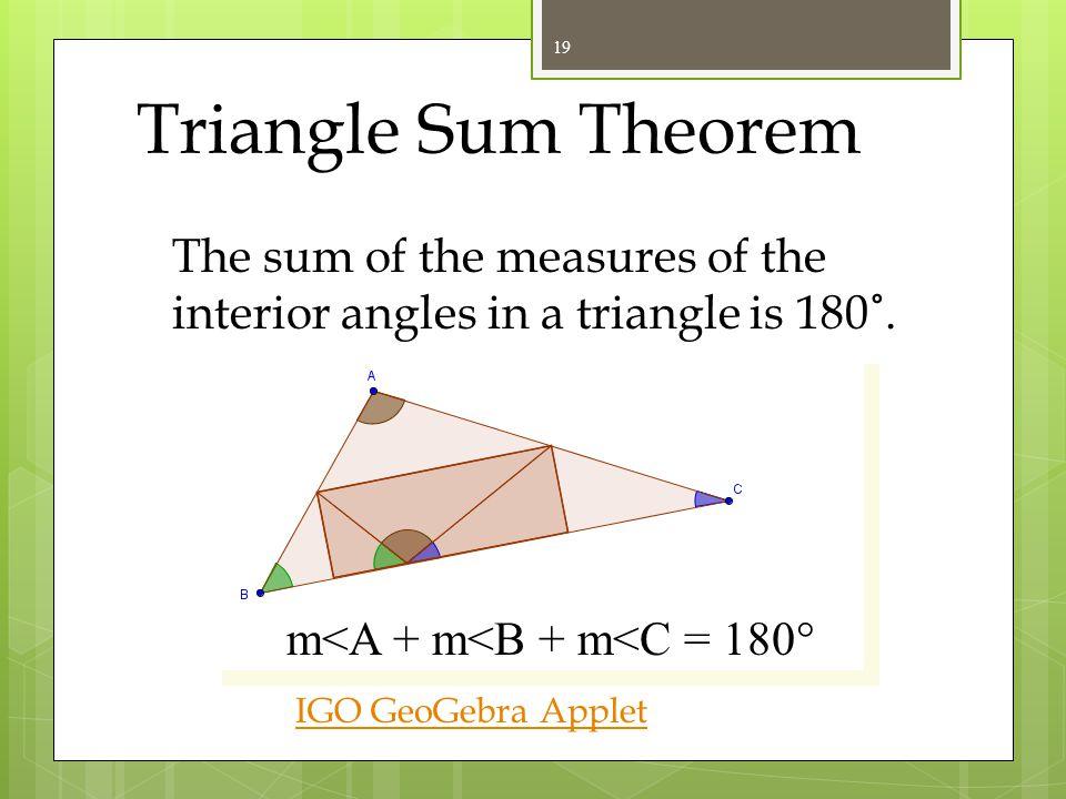 Triangle Theorems 18