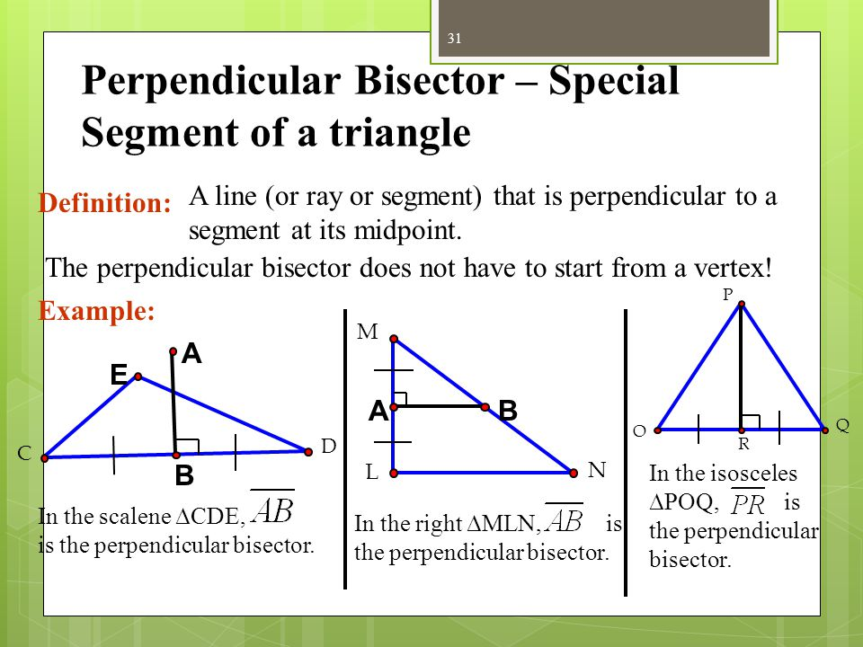 Altitude - Special Segment of Triangle Definition: The perpendicular segment from a vertex of the triangle to the segment that contains the opposite s