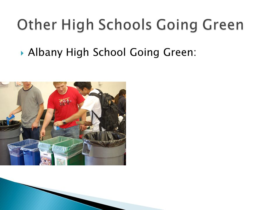  Albany High School Going Green: