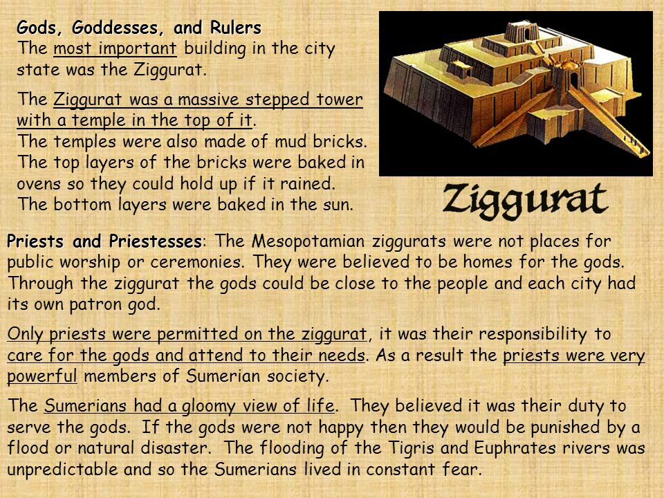 Theocracy Theocracy The Sumerians believed that the gods ruled their cities.