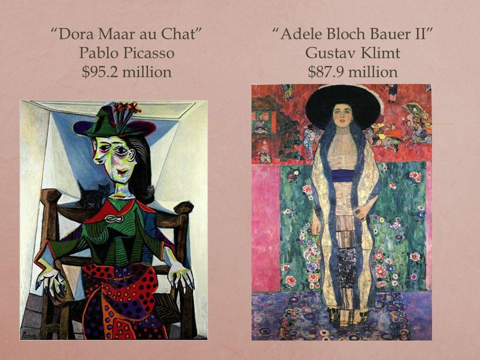 Portrait of Dr. Gachet Vincent Van Gogh $82.5 million False Start Jaspar Johns $80 million
