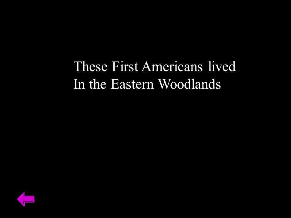 These First Americans lived In the Eastern Woodlands
