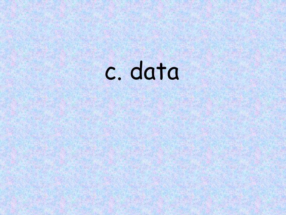 c. data