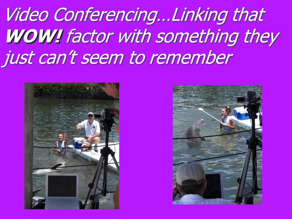 WOW! Video Conferencing…Linking that WOW! factor with something they just can't seem to remember