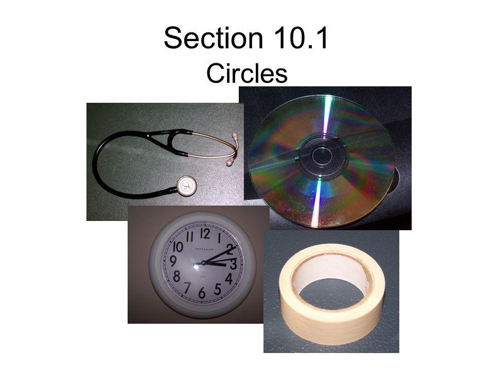 Section 10.1 Circles