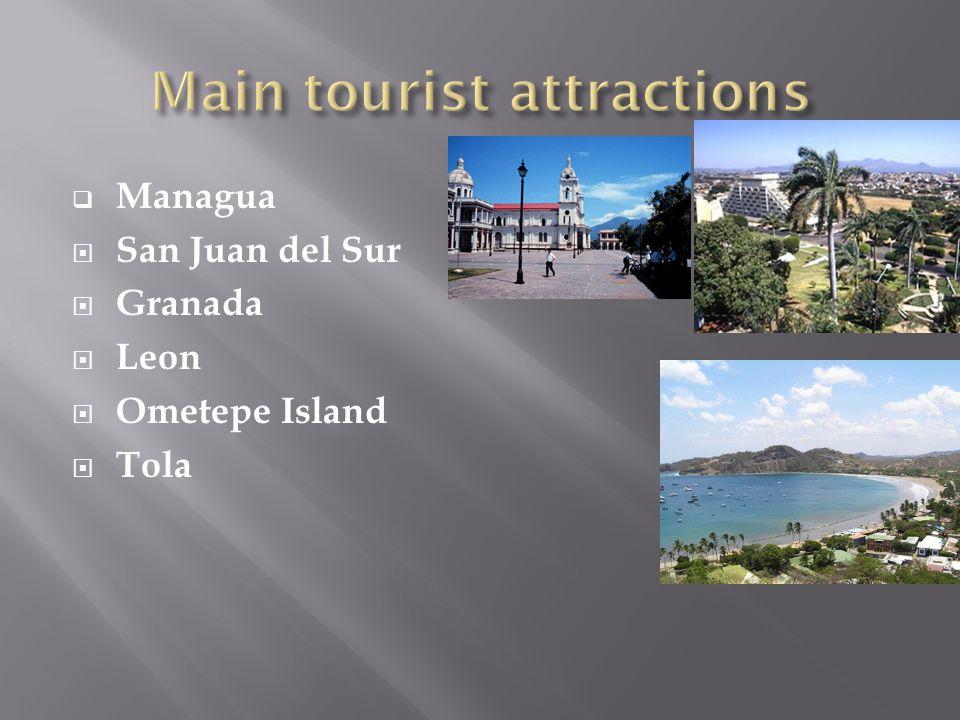  Managua  San Juan del Sur  Granada  Leon  Ometepe Island  Tola