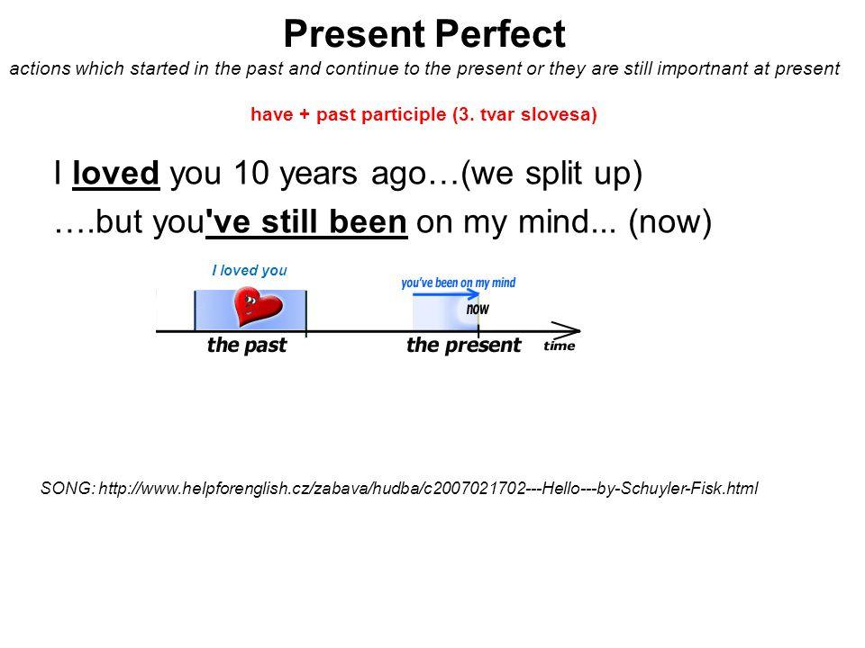 Present perfect – positive, negative, questions We ve met.