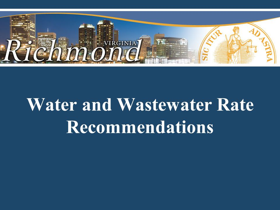 Water and Wastewater Rate Recommendations