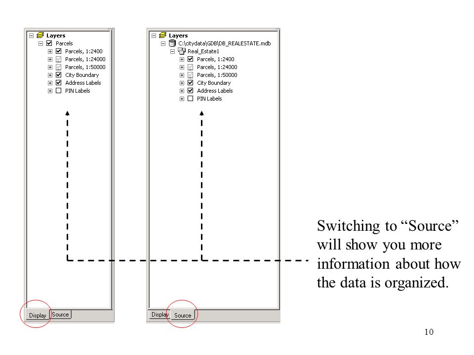 10 Switching to Source will show you more information about how the data is organized.