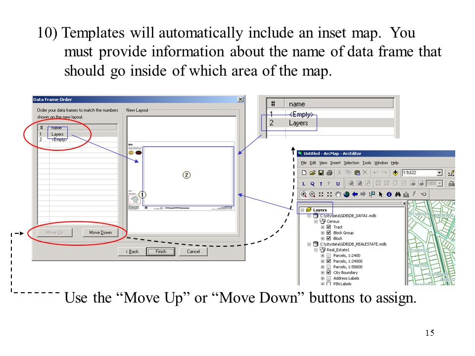 15 10) Templates will automatically include an inset map.