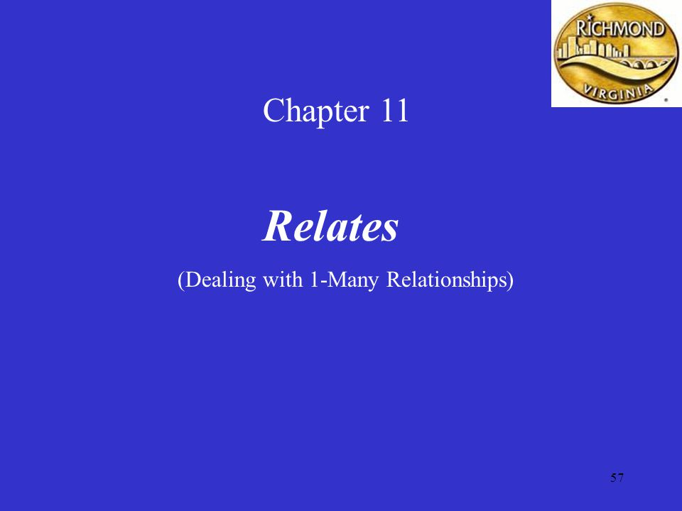57 Chapter 11 Relates (Dealing with 1-Many Relationships)