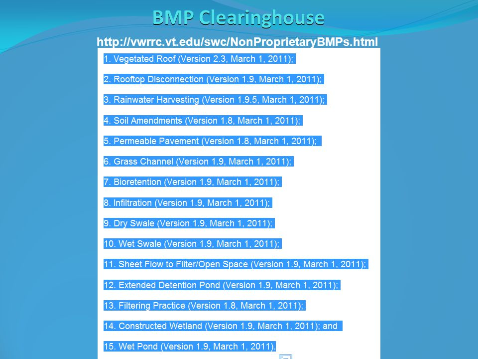 BMP Clearinghouse