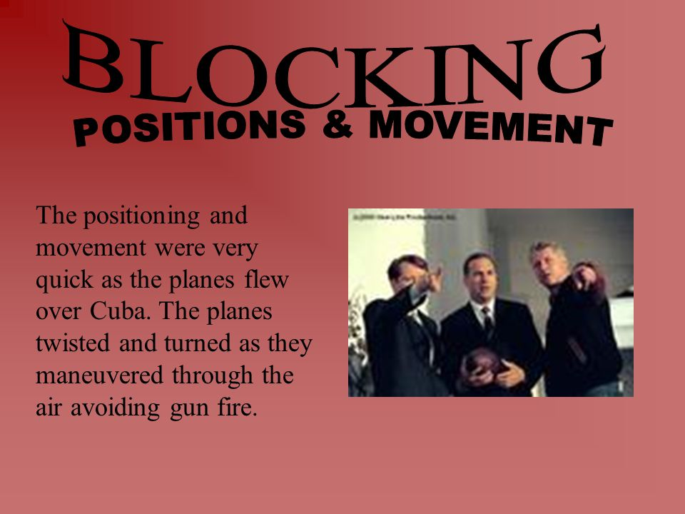 The positioning and movement were very quick as the planes flew over Cuba.