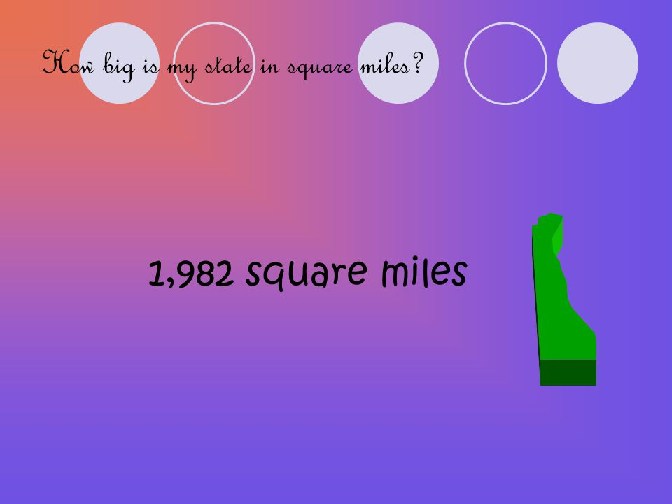 How big is my state in square miles 1,982 square miles