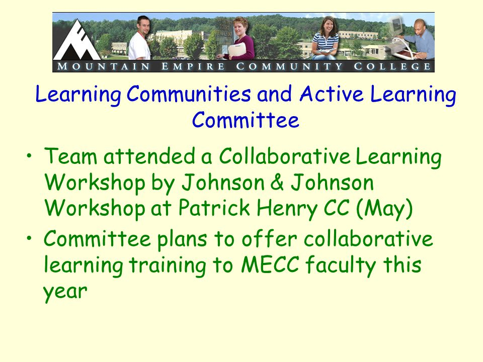 Learning Communities and Active Learning Committee Team attended a Collaborative Learning Workshop by Johnson & Johnson Workshop at Patrick Henry CC (