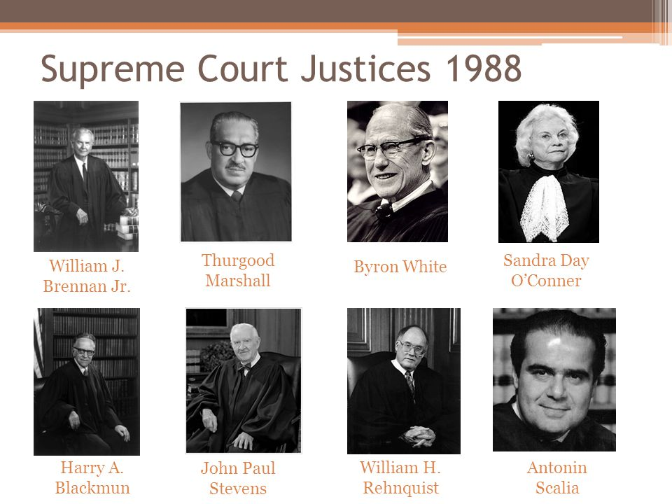 Supreme Court Justices 1988 William J. Brennan Jr.