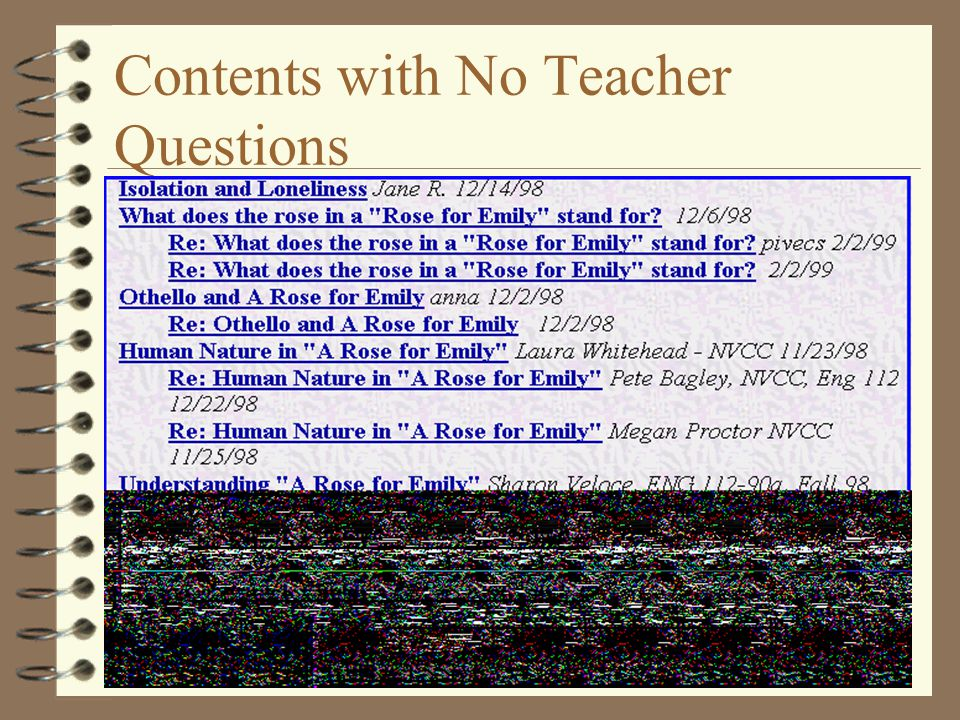 Contents with No Teacher Questions