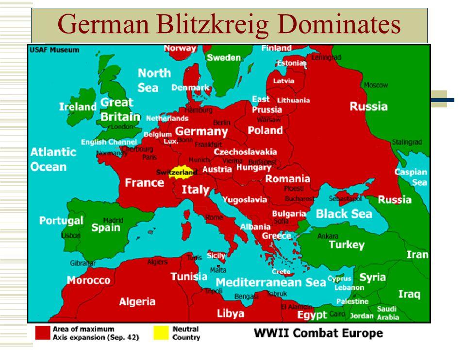 German Blitzkreig Dominates