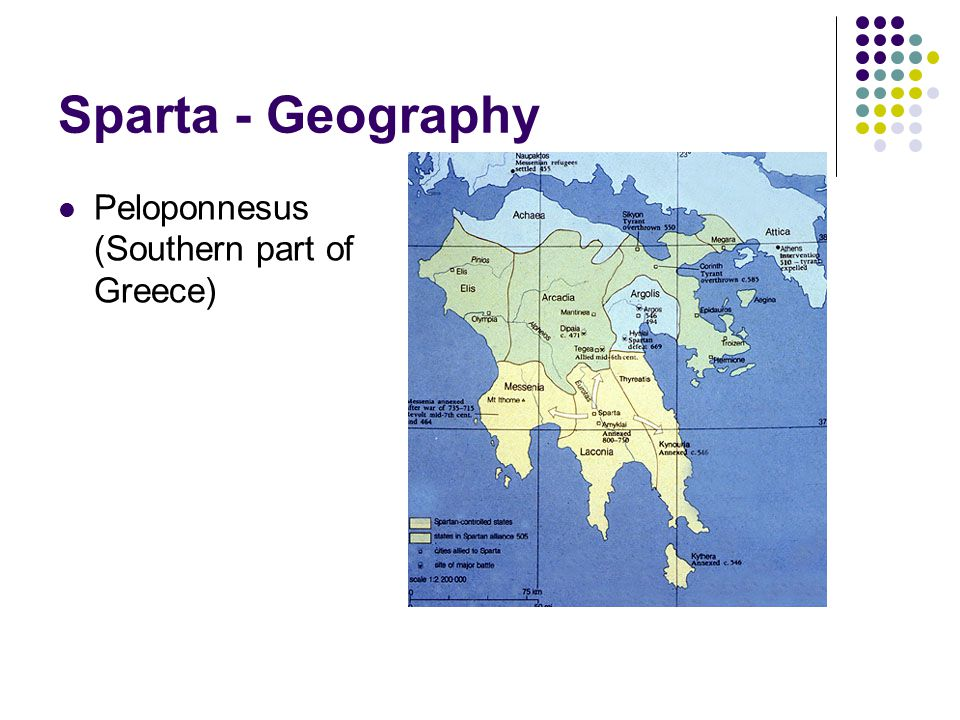 Sparta - Geography Peloponnesus (Southern part of Greece)