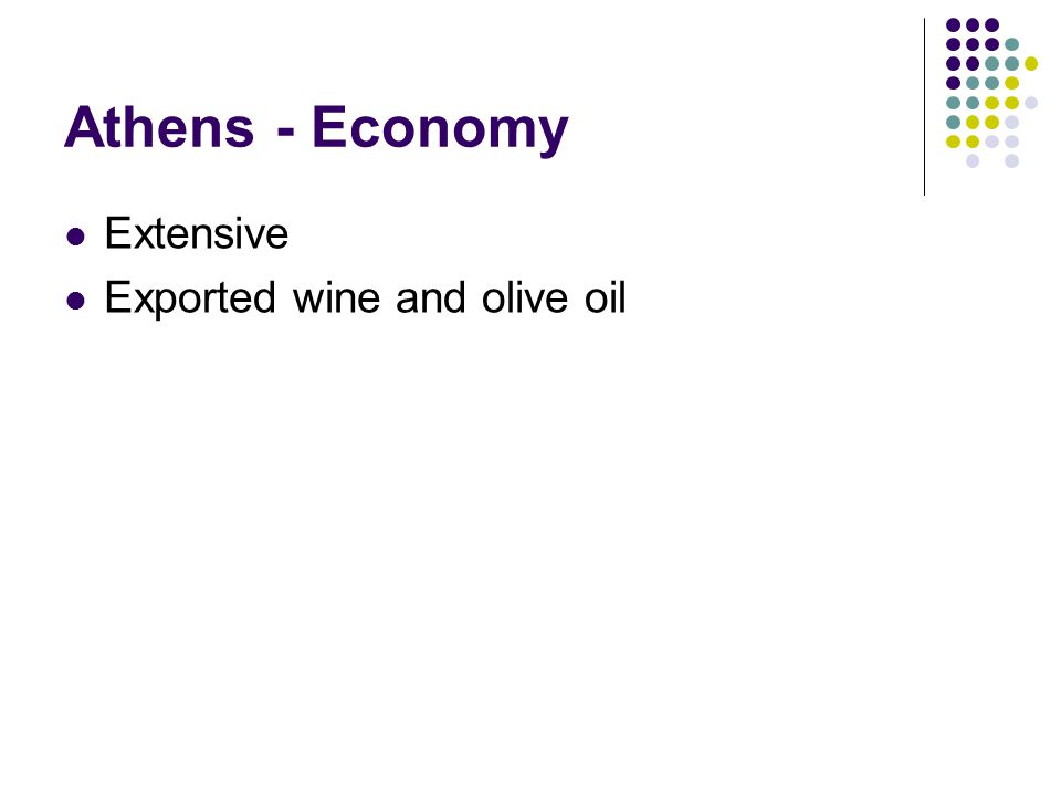Athens - Economy Extensive Exported wine and olive oil