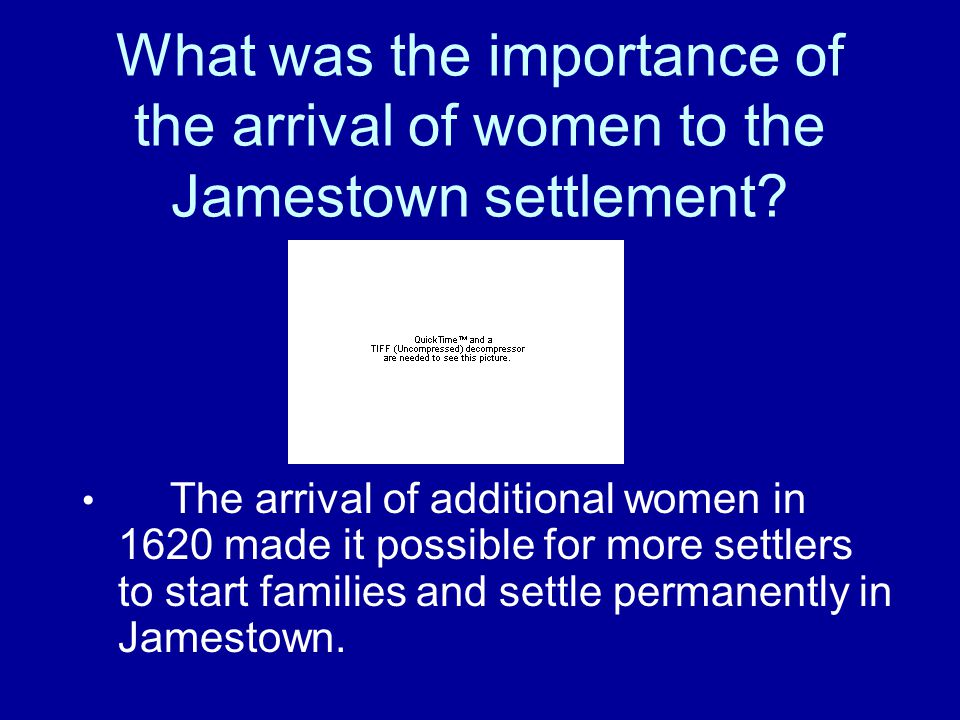 What was the impact of the arrival of Africans on the Jamestown settlement? The arrival of Africans against their will in 1619 made it possible for th