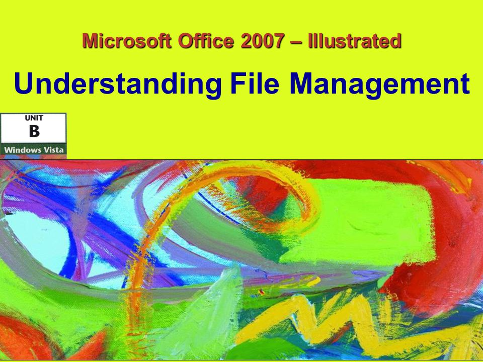 42 Microsoft Office 2007 – Illustrated Creating a New Folder Organize button Command for creating a new folder Type a name for the new folder and press Enter