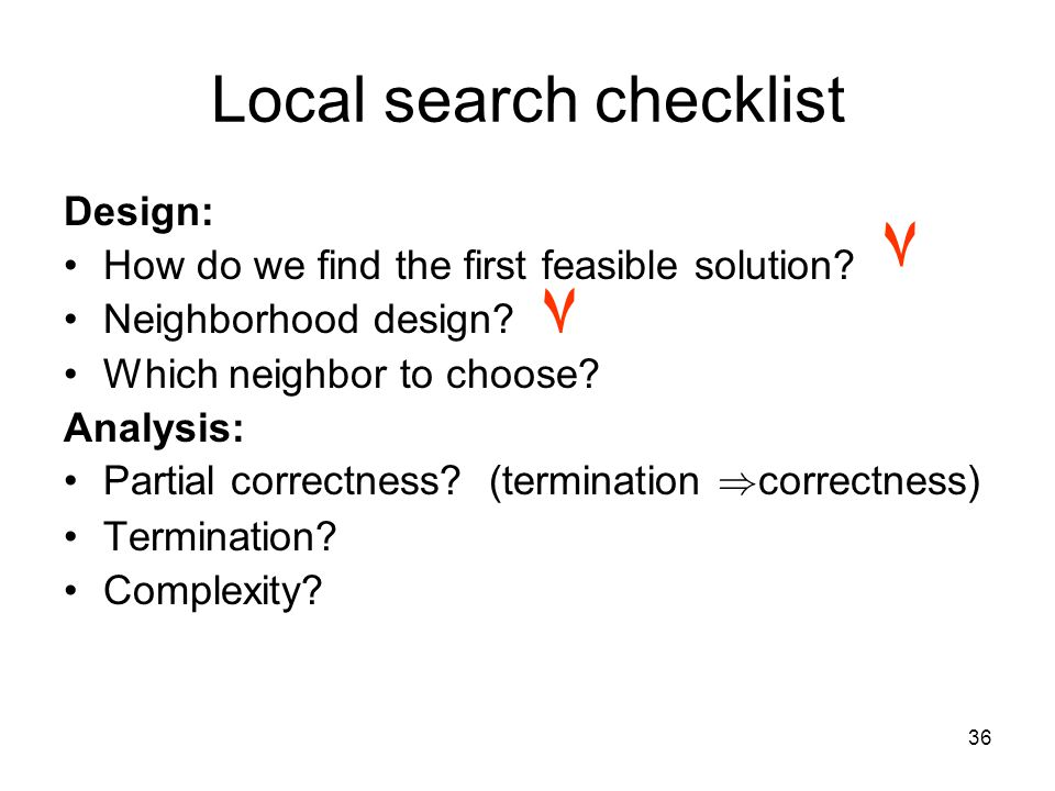 36 Design: How do we find the first feasible solution.