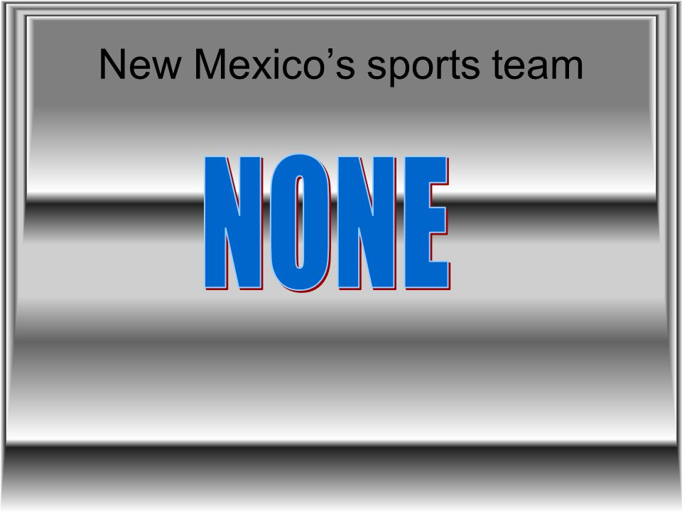 New Mexico's sports team