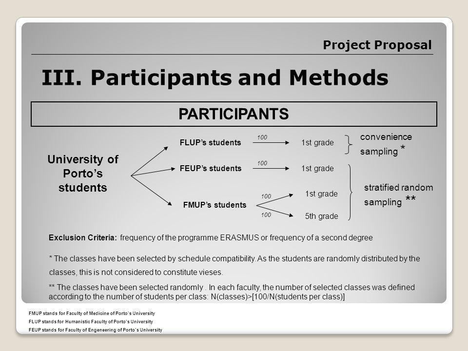 Project Proposal III.