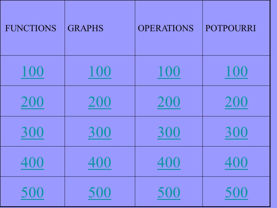 FUNCTIONSGRAPHSOPERATIONSPOTPOURRI 100 200 300 400 500