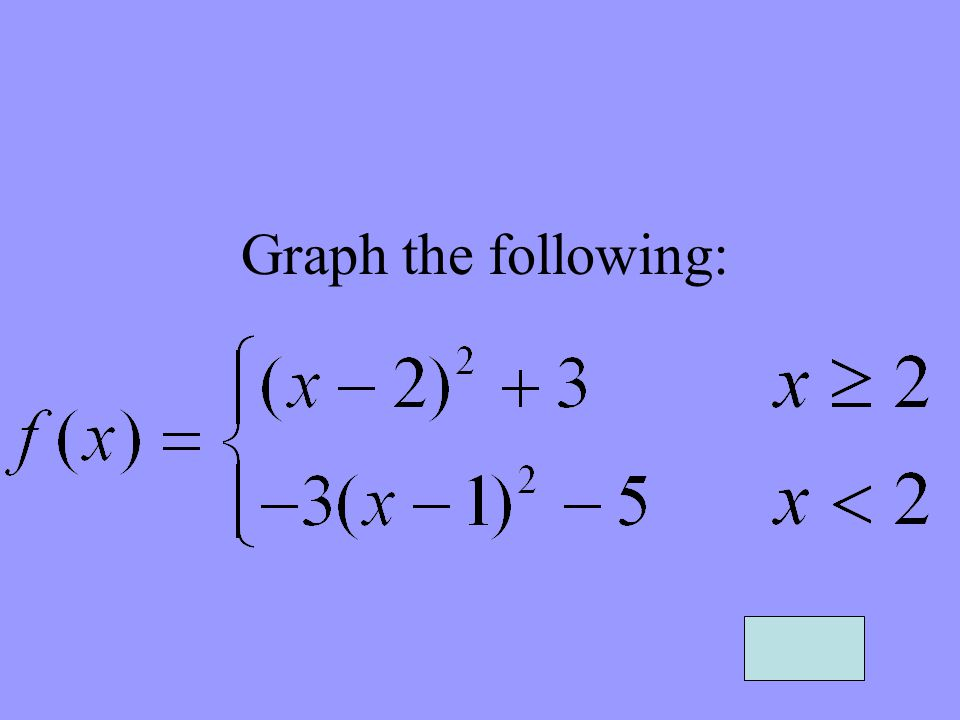 Graph the following: