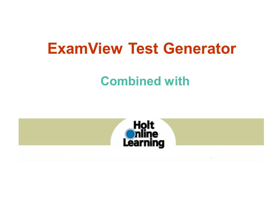 ExamView Test Generator How do I post tests online?