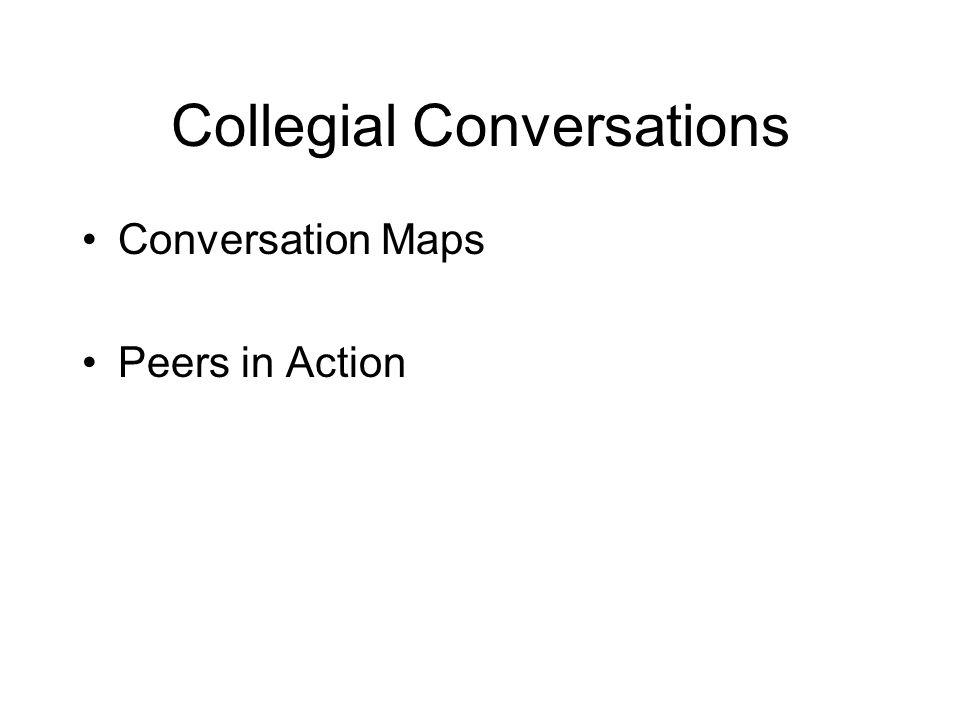 Collegial Conversations Conversation Maps Peers in Action