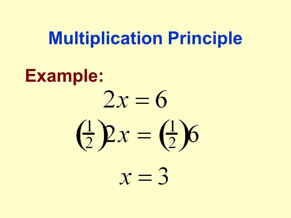 Multiplication Principle Example: