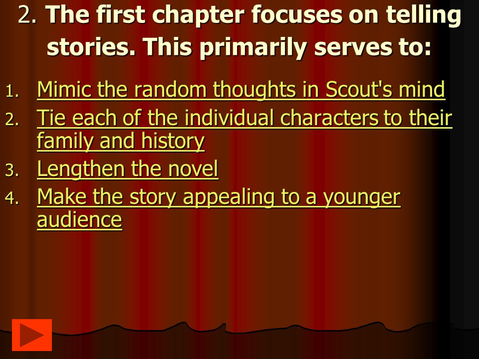 22.Which of the following are parallels in the novel.