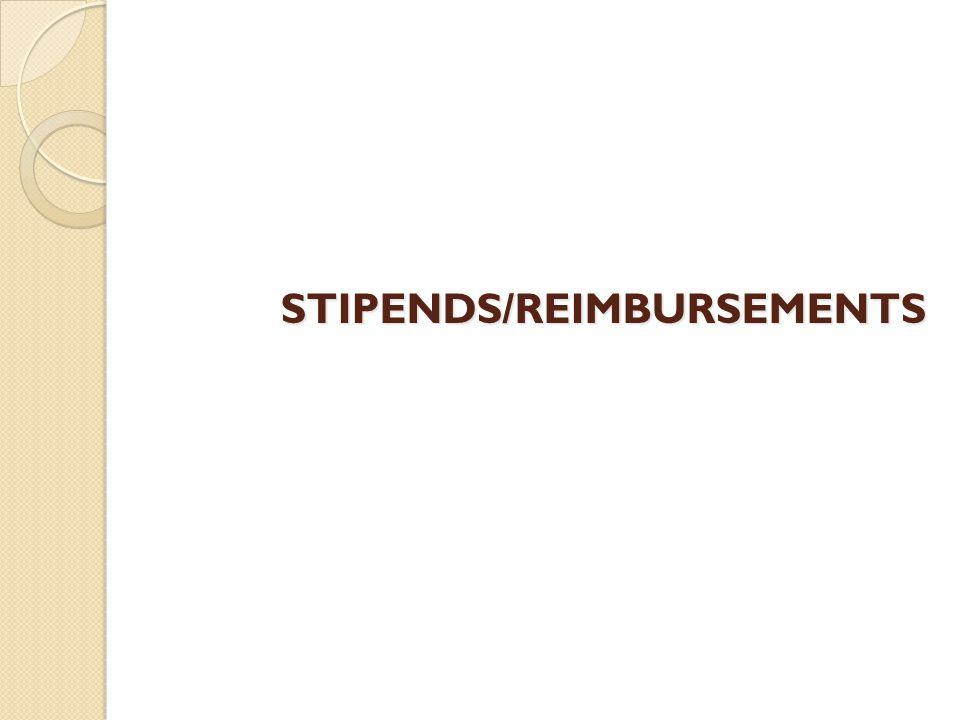 STIPENDS/REIMBURSEMENTS