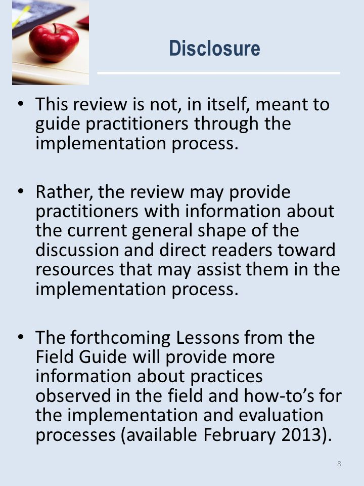 Clarification of Terms ~ Approach This review uses the following operational definitions for key terms: An approach is a broad, conceptual framework.