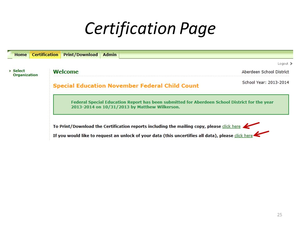 Certification Page 25