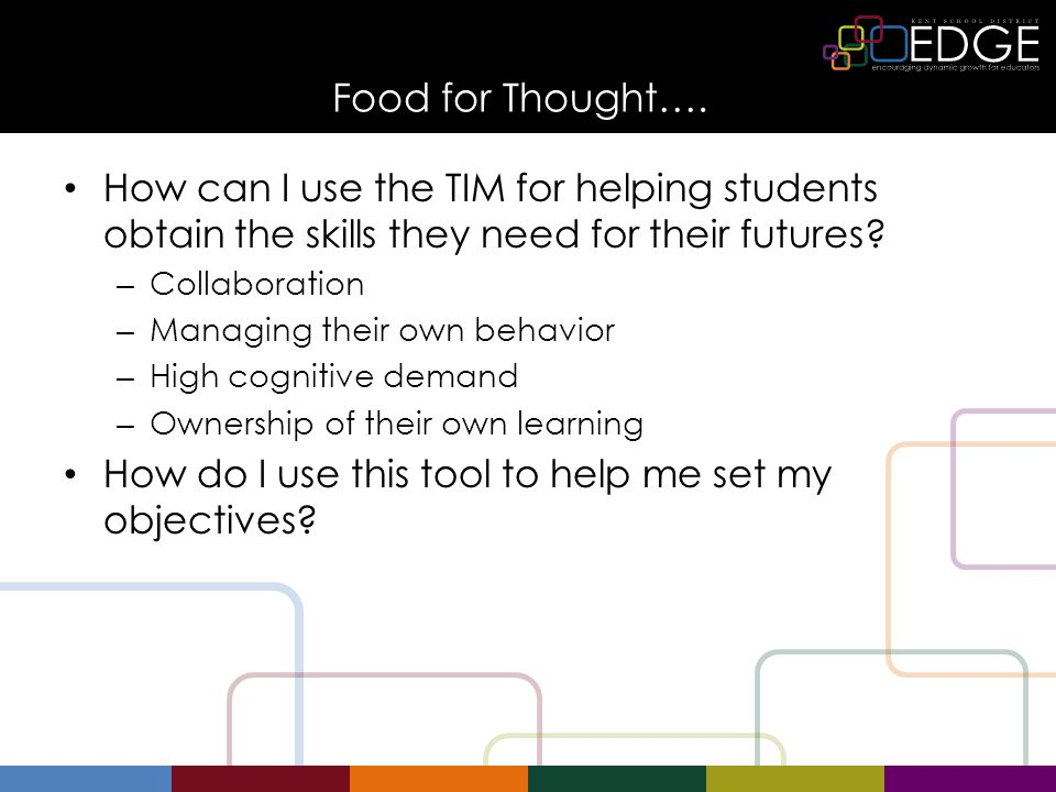 Technology Integration Matrix Use the tool to help set your goals for the school year What do you want students to learn and how will you help them get there.