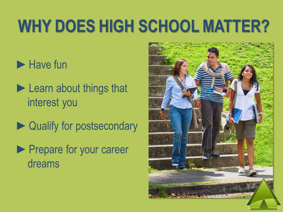 WHY DOES HIGH SCHOOL MATTER.