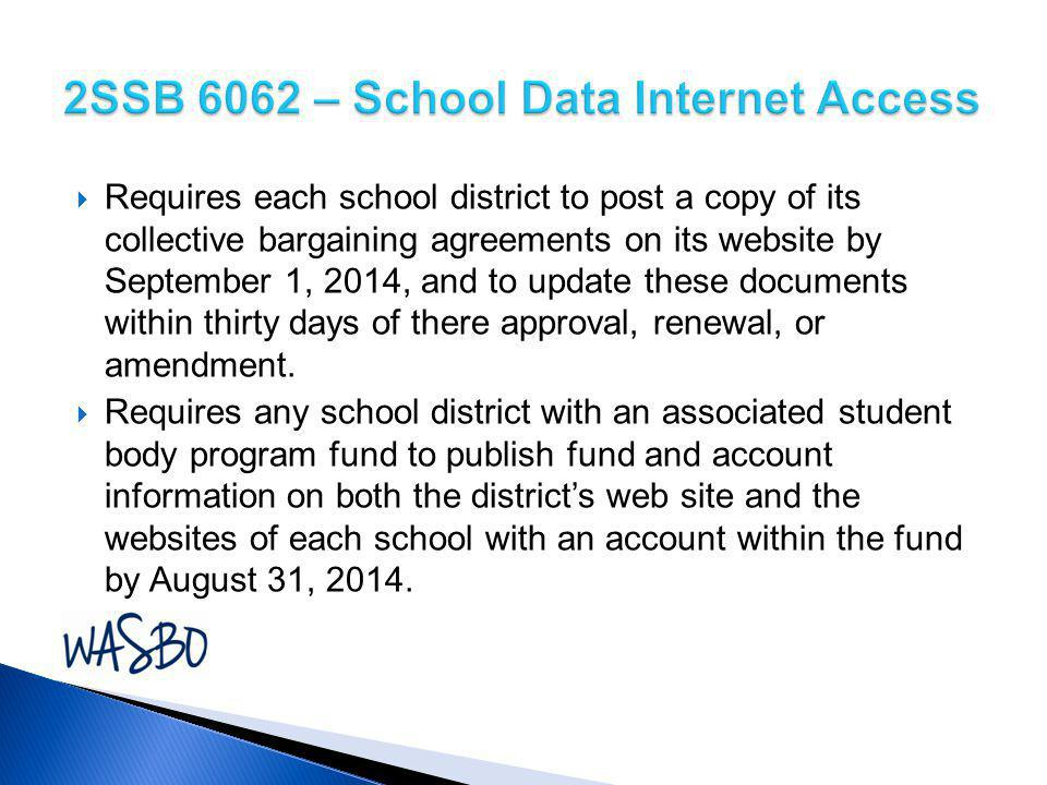  Requires each school district to post a copy of its collective bargaining agreements on its website by September 1, 2014, and to update these docume