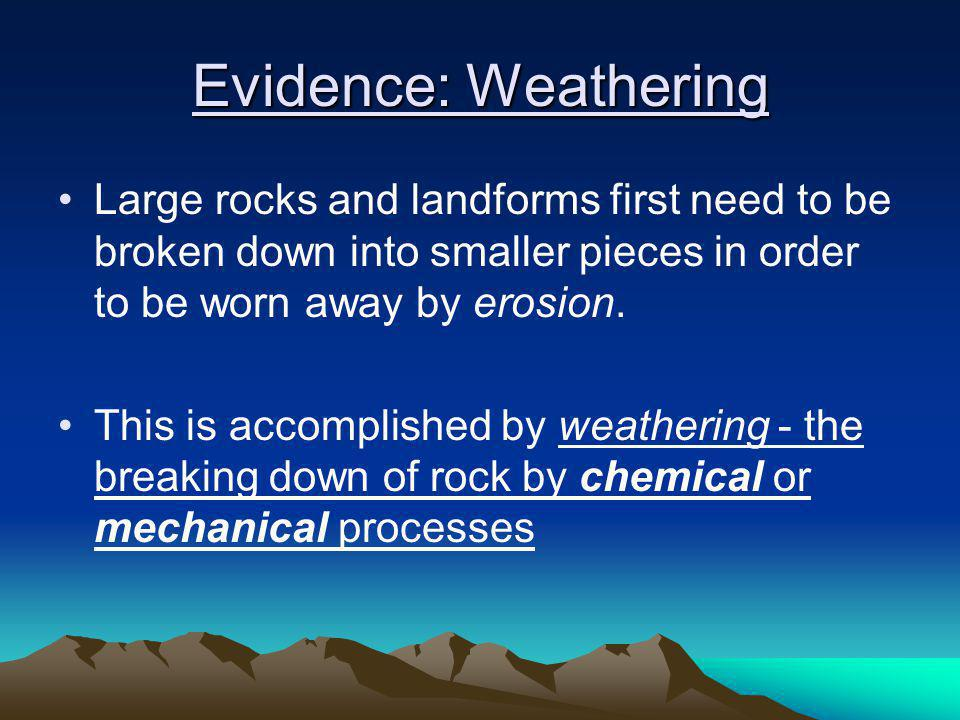 Do Now Breaking it Down Key Question: What is weathering, and what are some examples? Initial Thoughts: 5 minutes