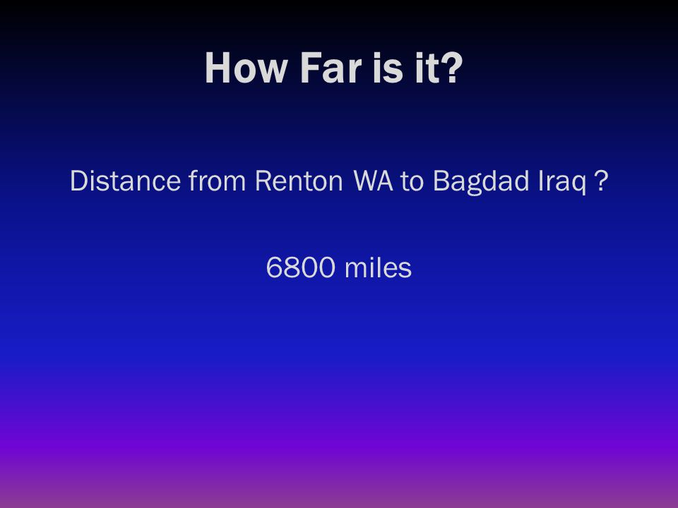How Far is it? Diameter of Earth's equator ?