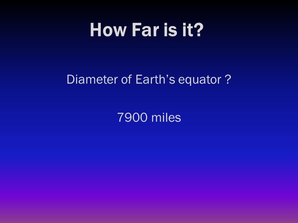 How Far is it? Circumference of Earth at equator ?