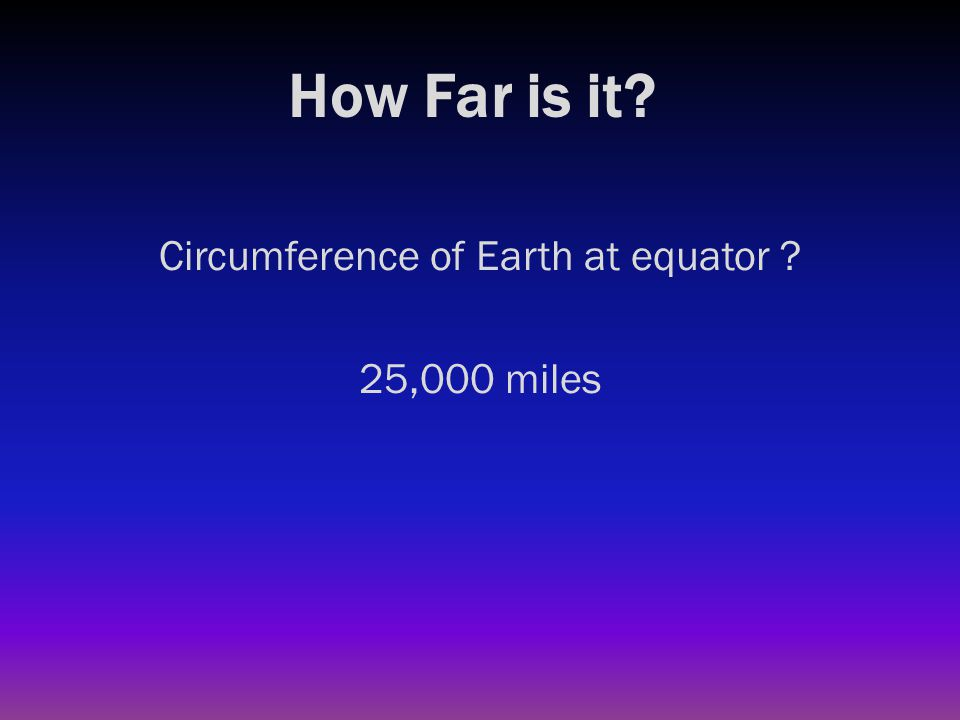 How Far is it? Distance from Earth to our Sun ?