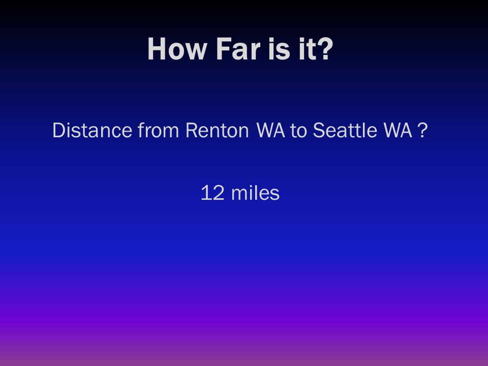 How Far is it? Distance from Renton to Canadian border ?