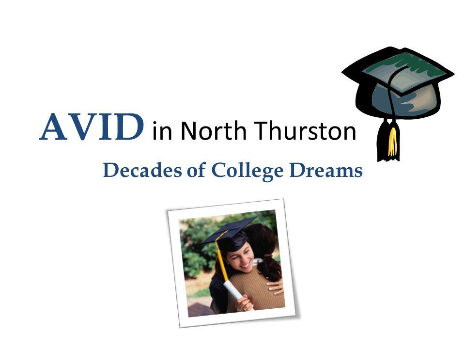 AVID in North Thurston Decades of College Dreams