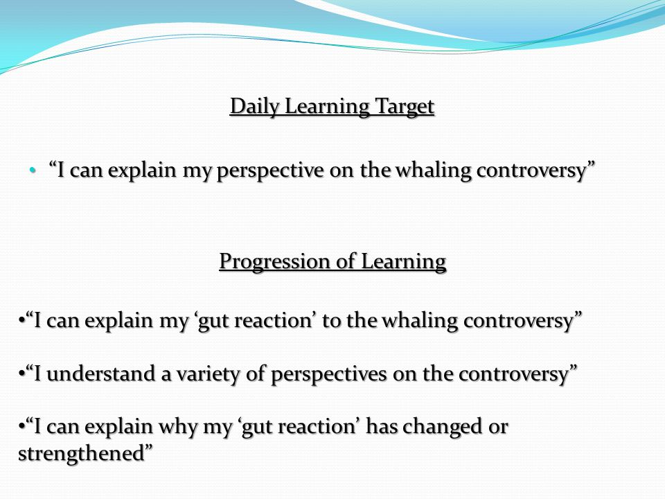 I can explain my 'gut reaction' to the whaling controversy Totally oppose the Makah whale hunt Totally support the Makah whale hunt Write a short explanation of your gut reaction (2-4 sentences)