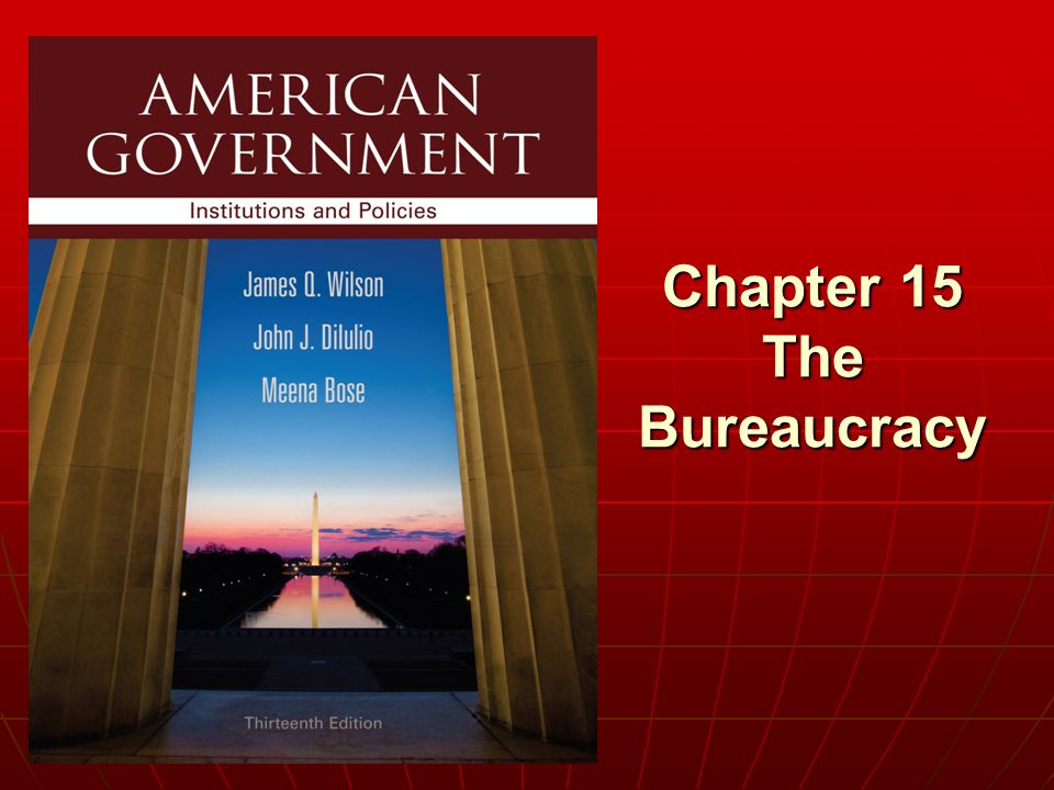 Chapter 15 The Bureaucracy
